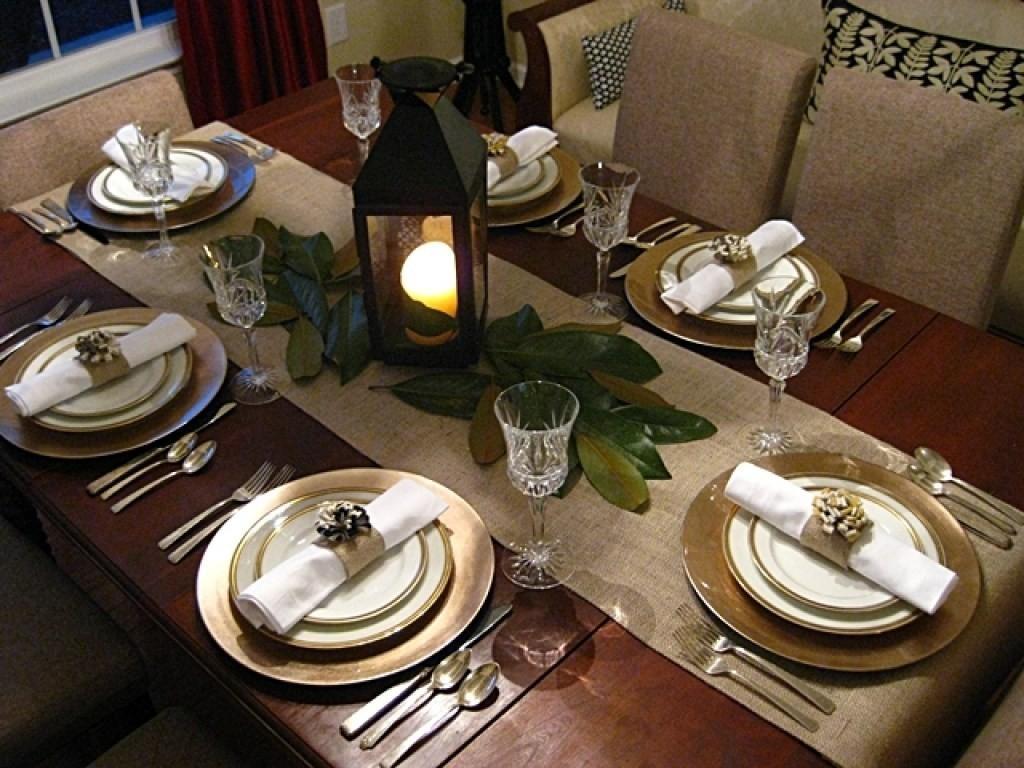 Как сервировать стол для официального ужина